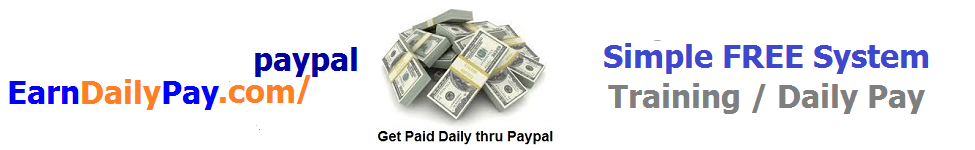 earndailypaypaypal banner 975 X 150 Blue and orange